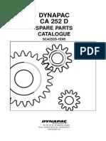 Dynapac CA252D (SCA252D-1EN5) Spare Parts Catalog Valid From Roller Serial Number 66220253- Cummins 4BTA3.9