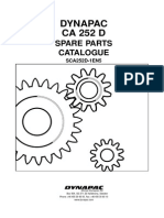 Dynapac CA252D (SCA252D-1EN5) Spare Parts Catalog Valid From Roller Serial Number 66220253- Cummins 4BTA3.9