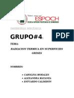 Radiación Térmica en Superficies Grises Gr4