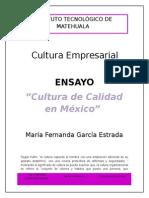 Cultura de Calidad en México