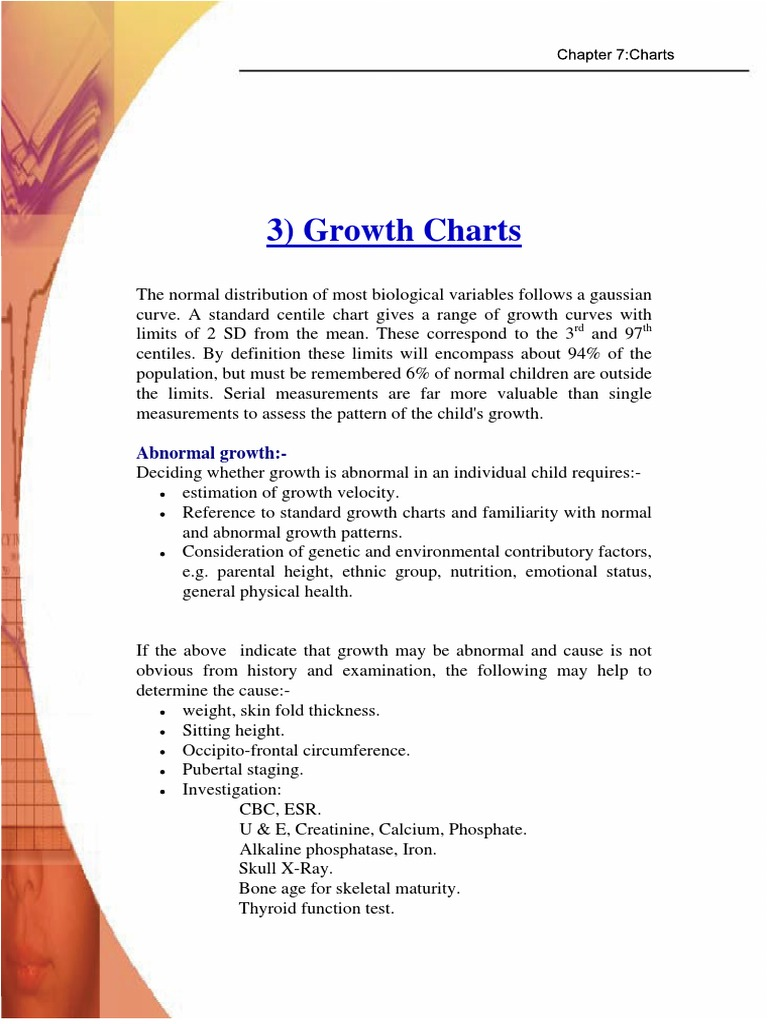Growth Charts Puberty Medicine