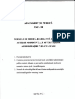 Normele de Tehnica Legislativa Aplicabile Actelor Normative Ale Autoritatilor Administratiei Publice Locale