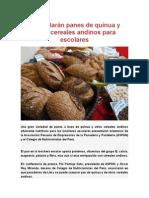 Panes de Quinua y Otros Cereales Andinos