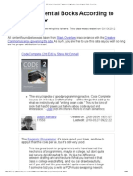 100 Most Influential Programming Books According to Stack Overflow