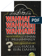 WAHABBI WAHHABI WAHHABI apa kata Uthman El-Muhammady dan apa Ulasan URD
