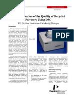 DSC - Caracterização Da Reciclagem de Polímeros