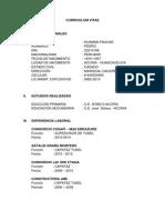 Curriculum Vitae Pedro Huaman Paucar
