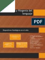 Ontogenia y Filogenia Del Lenguaje