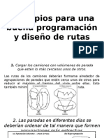 programación y diseño de rutas