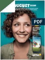 Optus in-store magazine
