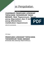Bahan Leaflet Tayamum