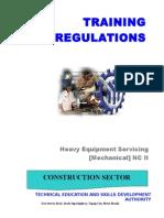TR- Heavy Equipment Servicing NC II
