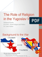 the role of religion in the yugoslav war