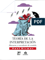 Paul Ricoeur.teoria de La Interpretacion