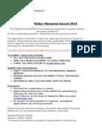 Walker Award Application 2014