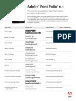 Fontfolio11.1 Font List
