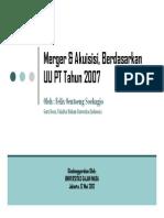 Merger & Akuisisi, Berdasarkan UU PT 207