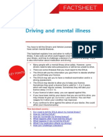 Driving and Mental Illness Factsheet