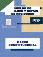 Sueldo de Alcaldes y Dietas de Regidores