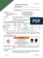 MSDS North America English - Natural Gypsum