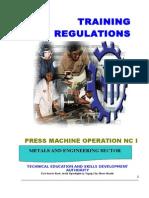 TR Press Machine Operation NC I