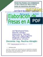 Informe de Fruta en Almibar