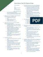 AP US History Unit 7 Exam