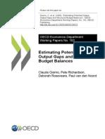 Estimate Potential Output Output Gap