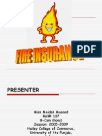 Presentation on FIRE Insurance