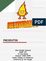 Presentation on FIRE Insurance