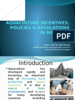 Topic 12 Aquaculture Policies in Malaysia2