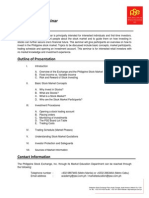 Basic Stock Market Seminar Primer