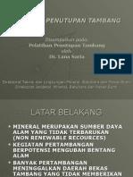 Rencana Penutupan Tambang-2009
