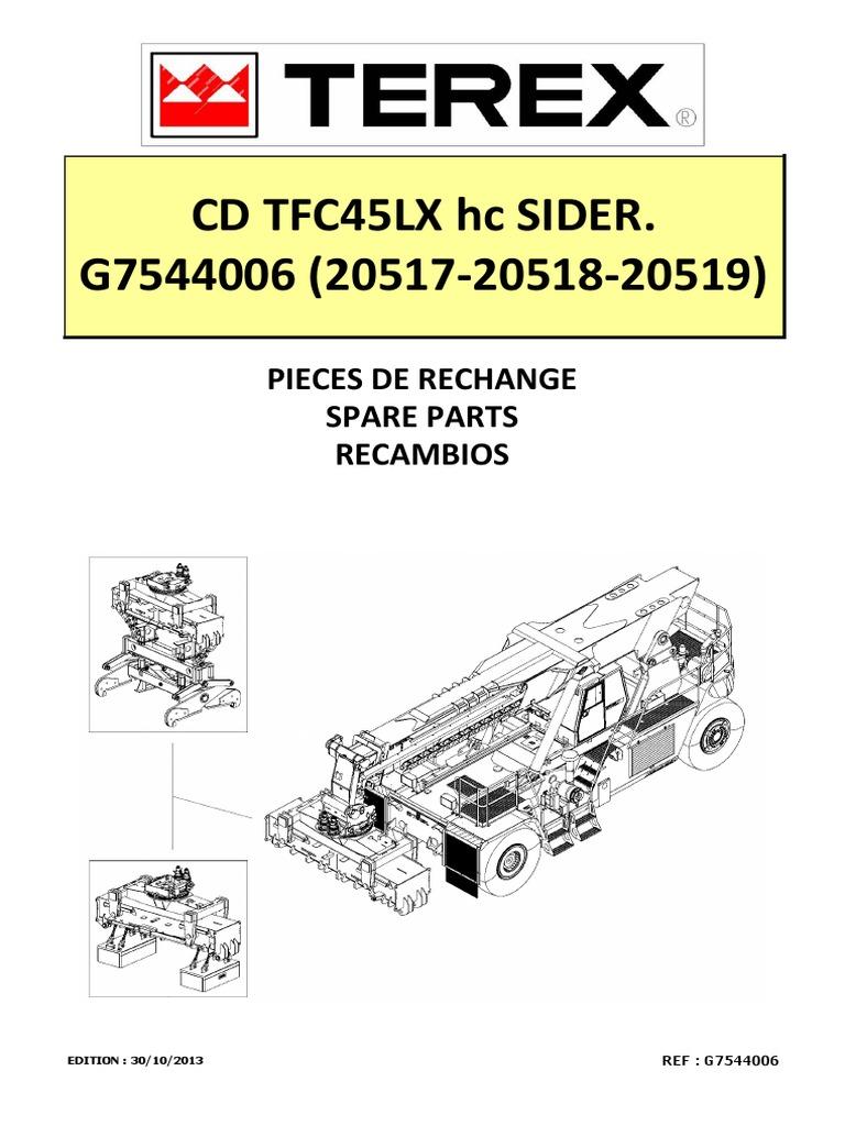spare parts manual tfc45lx hc sider g7544006 20517 20518 20519 rh pt scribd com Terex Parts Manual Club Car Commander 4500 Parts Manuals