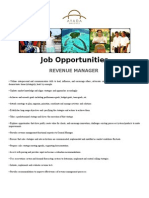 14 January 2015 Revenue Mgr and F & B Manager
