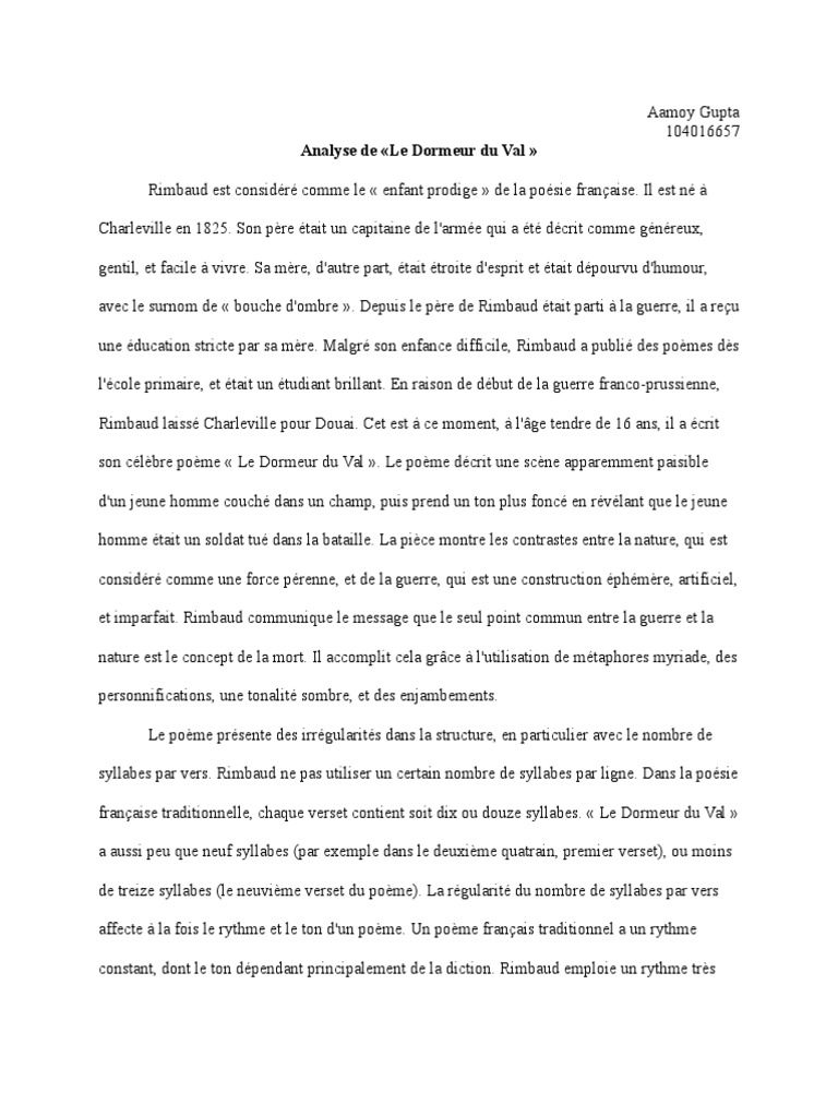 Rimbaud Essay