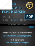 H1B Cap 2016 Filing Mistakes
