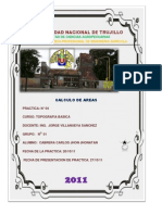 CALCULO DE AREAS CON NIVEL