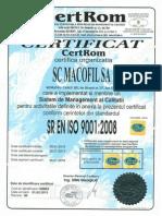 Certificate Acreditare