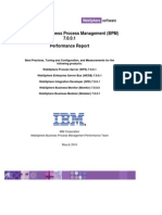 WebSphere BPM&C 7.WebSphere Business Process Management (BPM)  7.0.0.1  Performance Report0.0.1 Performance Report