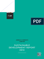 Ambuja Cement - Sustainable Development Report 2013