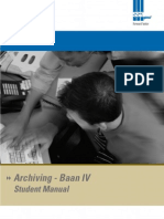 Baan Archive User Manual