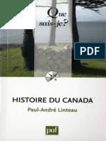 Histoire Du Canada - Lintreau Paul-Andre