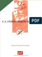 La Phenomenologie - Lyotard Jean-Francois