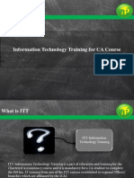 Information Technology Training in CA Course