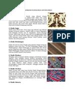 Macam - Macam Motif Batik Indonesia Beserta Daerah Asalnya