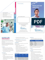 Accident Care Insurance Leaflet