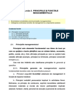 2 --- Principiile Şi Funcţiile Managementului