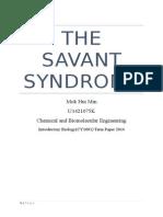 Bio Term Paper Savant Syndrome Final