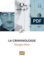La Criminologie - Picca Georges
